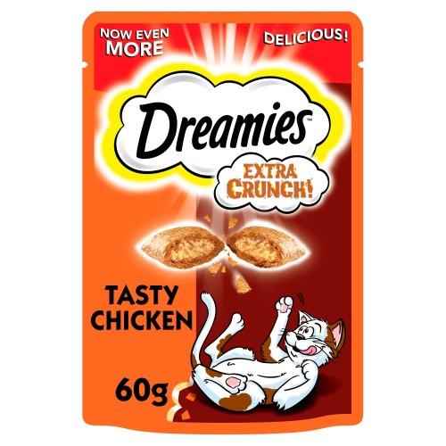 Dreamies Extra Crunch Cat Treats Chicken 60g