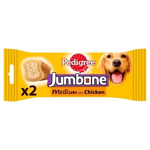 Pedigree Jumbone Chicken Adult Dog Treats Medium x 2 Jumbones