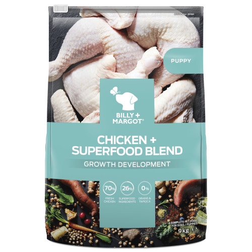 Billy & Margot Puppy Chicken & Superfood Dry Dog Food 1.8kg