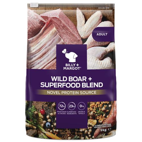 Billy & Margot Wild Boar & Superfood Dry Adult Dog Food 9kg