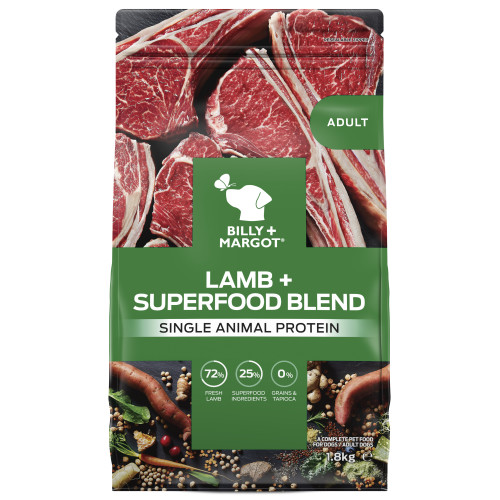 Billy & Margot Lamb & Superfood Dry Adult Dog Food 1.8kg