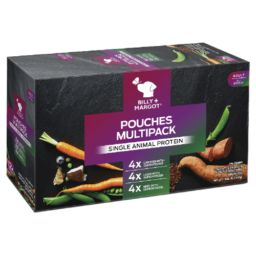 Billy & Margot Multipack Wet Adult Dog Food Pouches 150g x 12