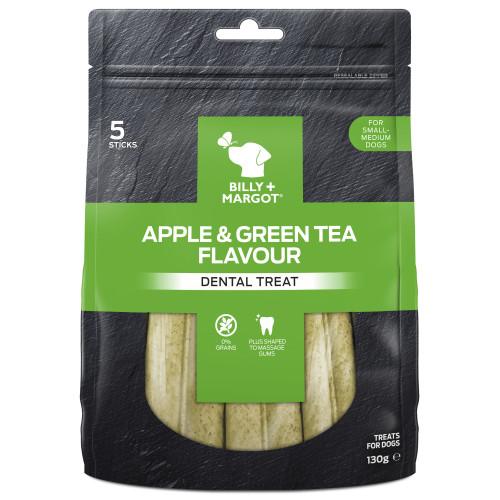 Billy & Margot Apple & Green Tea Dental Chews for Dogs 130g Small - Medium Dogs