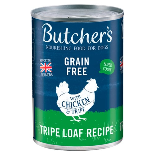 Butchers Tripe & Chicken Dog Food Tins 400g x 48