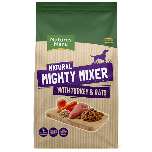 Natures Menu Mighty Mixer Turkey & Oats Adult Dog Food 2kg