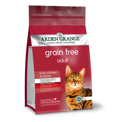 Arden Grange Grain Free Chicken & Potato Adult Cat Food 2kg