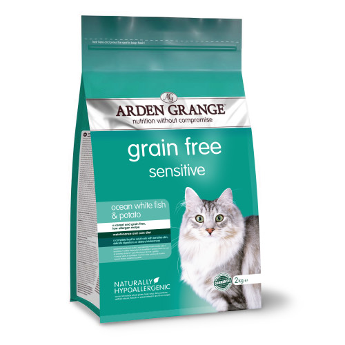 Arden Grange Sensitive Ocean Fish & Potato Adult Cat Food 4kg