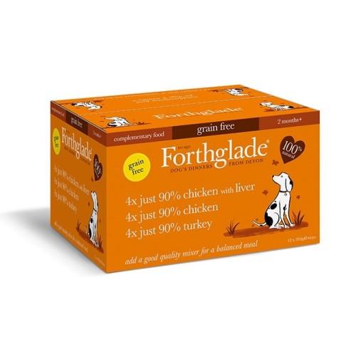 Forthglade Natural Menu Just Poultry Multipack Wet Dog Food 395g x 12