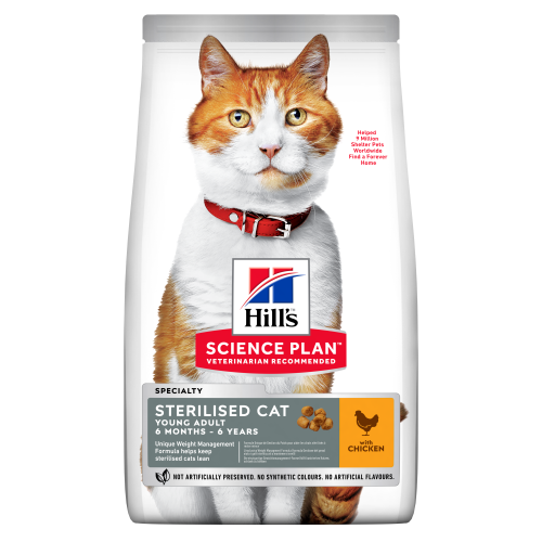 Hills Science Plan Feline Young Adult Sterilised Cat Chicken 15kg