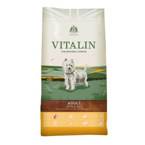 Vitalin Natural Lamb & Rice Dry Adult Dog Food 12kg x 2
