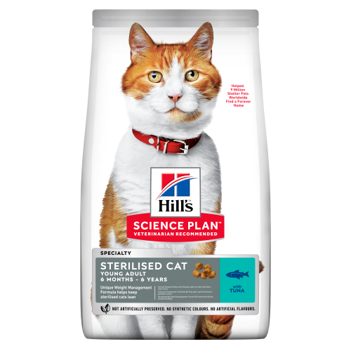 Hills Science Plan Young Tuna Adult Sterilised Dry Cat Food 7kg