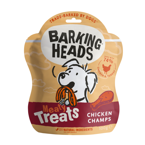 Barking Heads Meaty Treats Chicken Champs Adult Dog Treats 100g