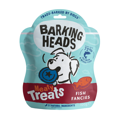 Barking Heads Meaty Treats Fish Fancies Adult Dog Treats 100g x 7 SAVER PACK
