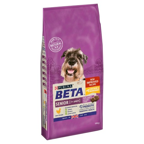 BETA Chicken Senior Dog Food 14kg x 2