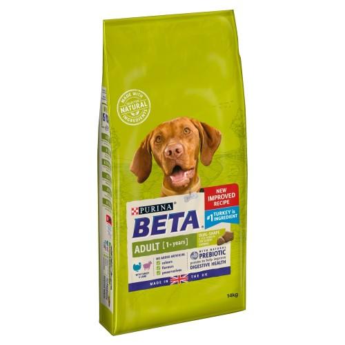 BETA Turkey & Lamb Adult Dog Food 14kg x 2