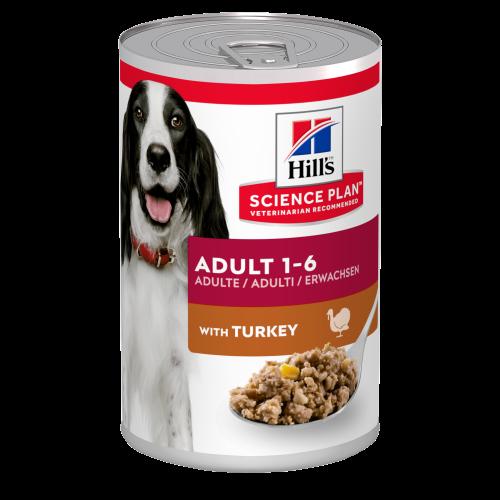 Hills Science Plan Canine Wet Adult Turkey Dog Food 370g x 12