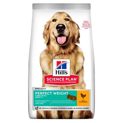 Hills Science Plan Canine Adult Perfect Weight Large Breed 12kg