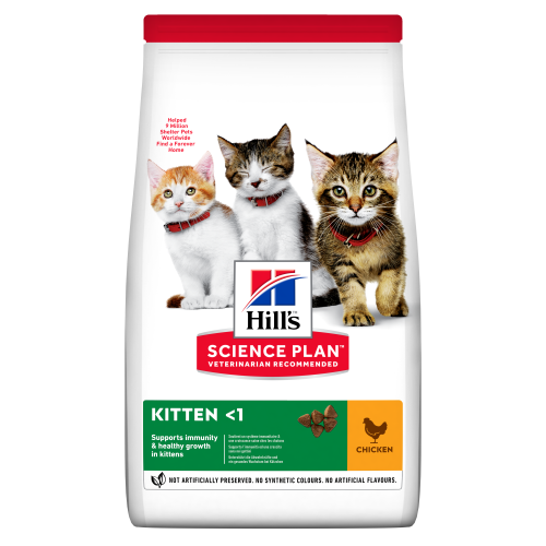Hills Science Plan Chicken Dry Kitten Food 7kg x 2