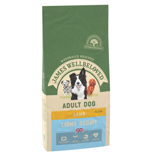 James Wellbeloved Lamb & Rice Light Adult Dog Food 12.5kg x 2