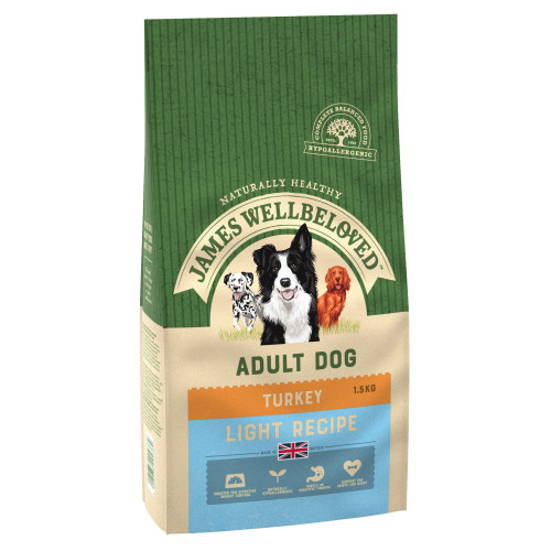 James Wellbeloved Turkey & Rice Light Adult Dog Food 12.5kg x 2