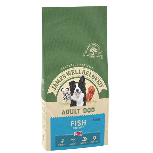 James Wellbeloved Ocean Fish & Rice Adult Dog Food 15kg x 2