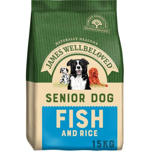 James Wellbeloved Fish & Rice Senior Dog Food 15kg