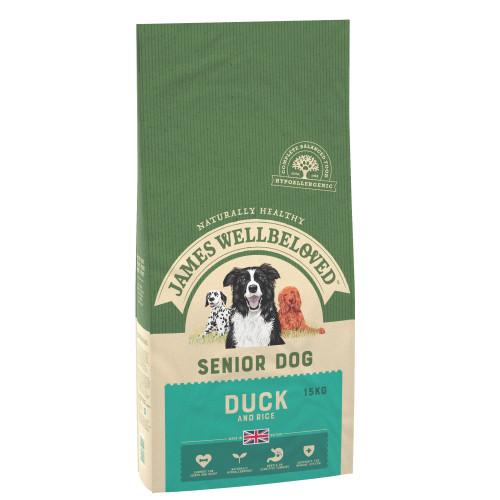 James Wellbeloved Duck & Rice Senior Dog Food 15kg x 2