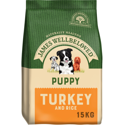 James Wellbeloved Turkey & Rice Puppy Food 15kg