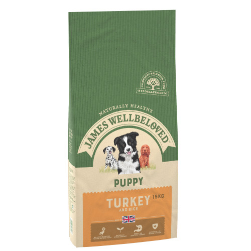 James Wellbeloved Turkey & Rice Puppy Food 7.5kg x 2