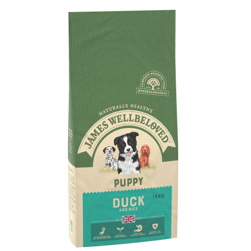 James Wellbeloved Duck & Rice Puppy Food 7.5kg x 2