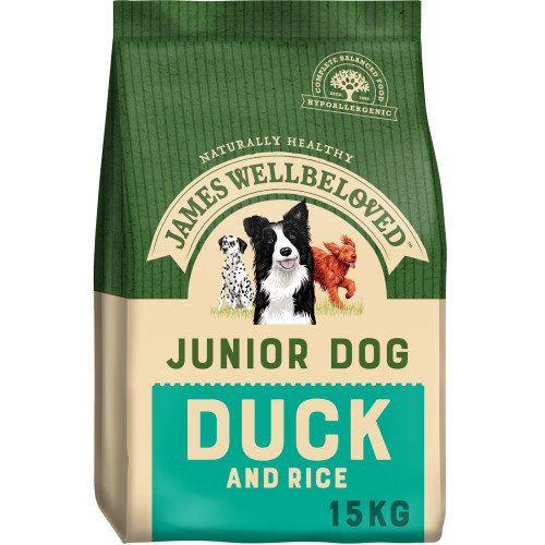 James Wellbeloved Duck & Rice Junior Dog Food 15kg