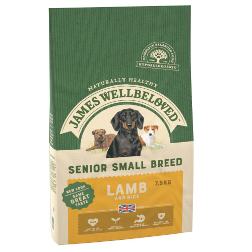 James Wellbeloved Small Breed Lamb & Rice Senior Dog Food 7.5kg x 2