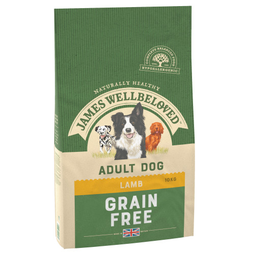 James Wellbeloved Grain Free Lamb & Vegetables Adult Dog Food 10kg