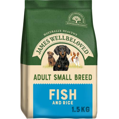 James Wellbeloved Ocean Fish & Rice Adult Small Dog Food 1.5kg