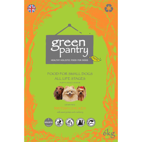Green Pantry 80/20 Chicken & Sweet Potato Grain Free Small Dog Food 6kg x 2