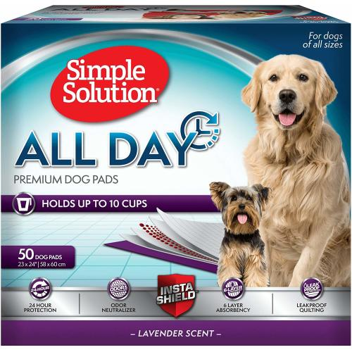 Simple Solution All Day Premium Dog & Puppy Training Pads 50 Pads