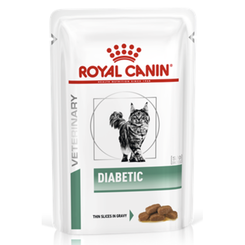 Royal Canin Veterinary Diabetic Wet Cat Food 85g x 48