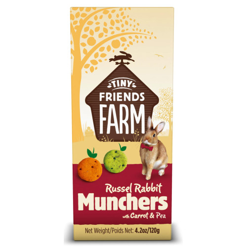 Supreme Russel Rabbit Munchers Treats Carrot & Pea 120g