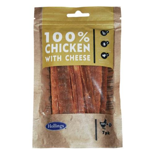 Hollings 100% Chicken & Cheese Bar Dog Treats 7 Pieces