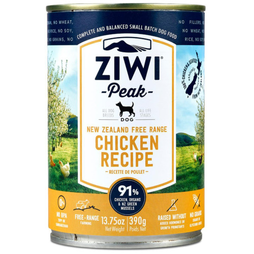 ZiwiPeak Daily Dog Cuisine Chicken Adult Dog Food 390g x 12