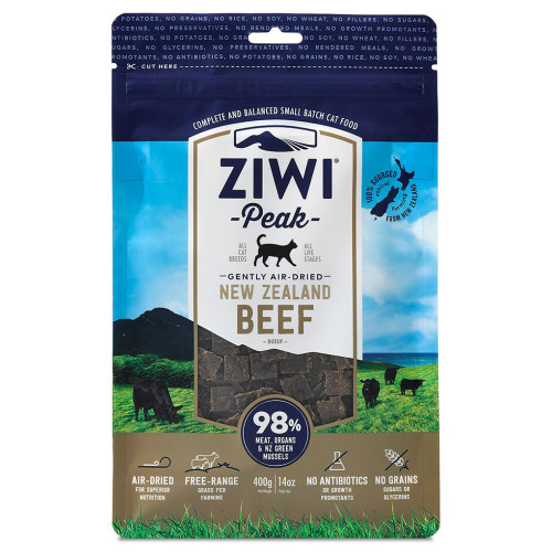 ZiwiPeak New Zealand Beef Dry Cat Food 1kg x 2