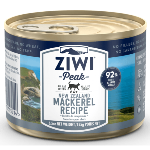 ZiwiPeak Daily Cat Cuisine Mackerel Cat Food 185g x 24