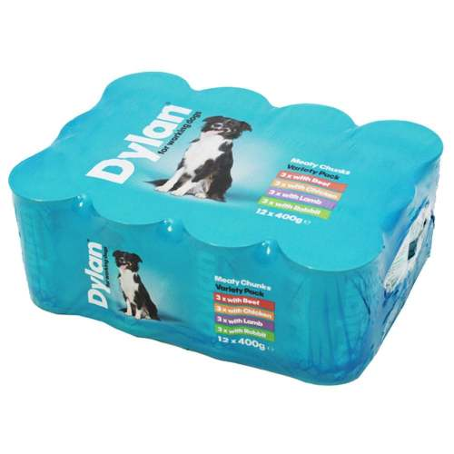 Dylan Working Dog Variety Wet Dog Food Tins 400g x 12