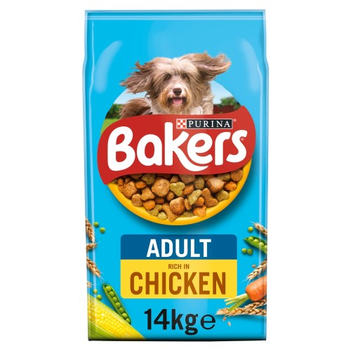 Bakers Chicken & Vegetable Adult Dog Food 14kg