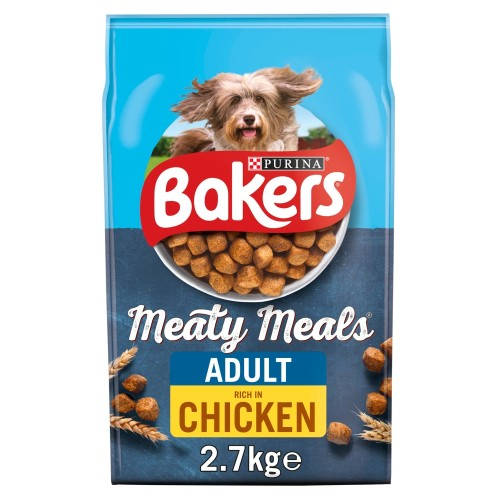 Bakers Complete Meaty Meals Chicken Adult Dog Food 2.7kg x 4