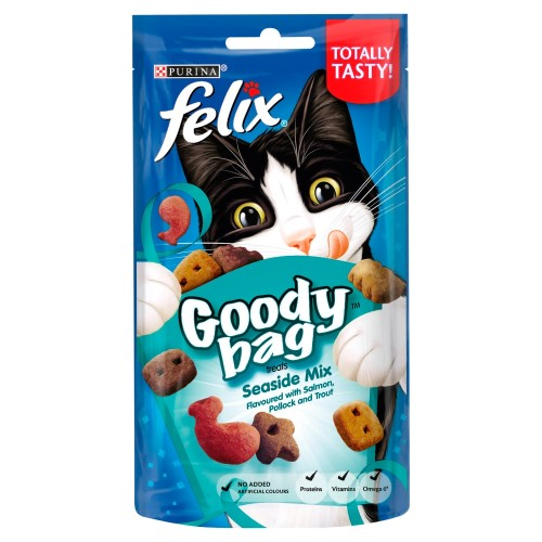 Felix Goody Bag Cat Treats Seaside Mix 60g
