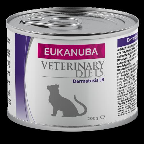 Eukanuba Veterinary Diets Dermatosis LB Wet Adult Cat Food 200g x 6