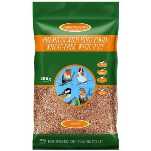 Johnston & Jeff Premium Wheat Free with Suet Wild Bird Food 20kg