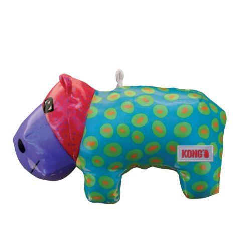 KONG Shieldz Hippo Dog Toy Hippo friend