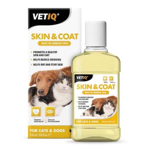Mark & Chappell VetIQ Skin & Coat Oil for Cats & Dogs 250ml